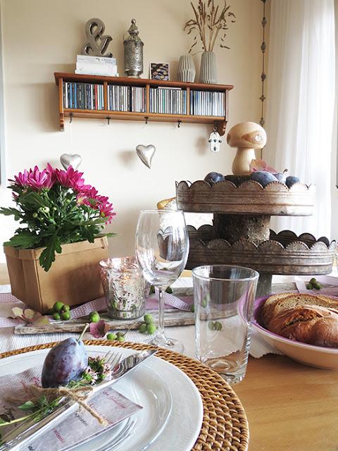 Tischdekoration für den Sommer basteln