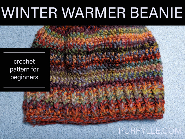 Winter Warmer Beanie Crochet Pattern For Beginners - multicoloured beanie