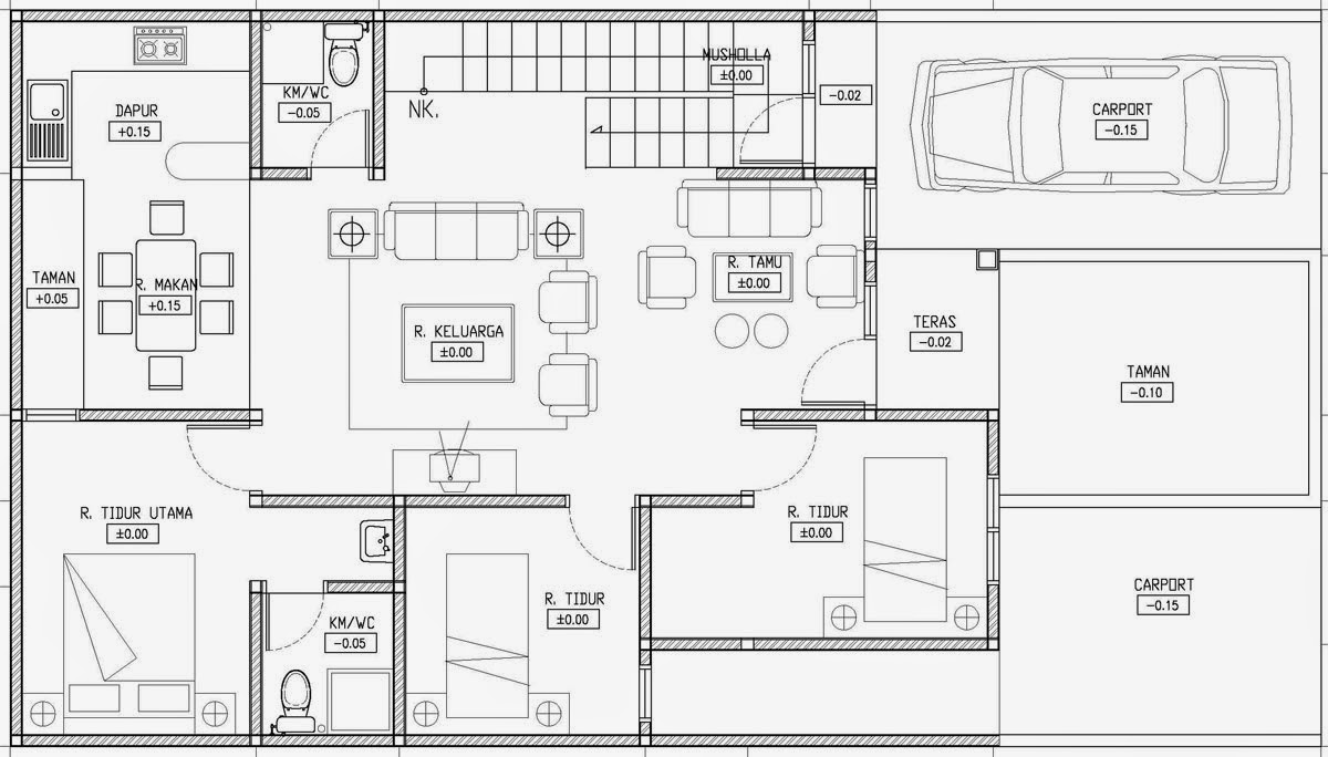 Denah Rumah Lengkap Dengan Ukuran Top Rumah