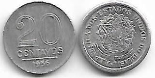20 centavos, 1956