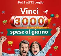 Logo Concorso ''Vinci 3000 spese al giorno''  da Auchan e SimplyMarket