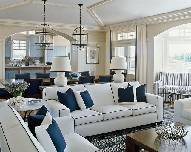 Sensational Southgate Residential Blue And White Interiors Largest Home Design Picture Inspirations Pitcheantrous