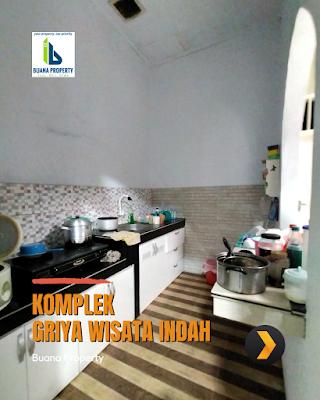 Dapur Rumah Second Cantik Halaman Luas di Komplek Griya Wisata Indah Jl Karya Wisata Ujung Medan Johor