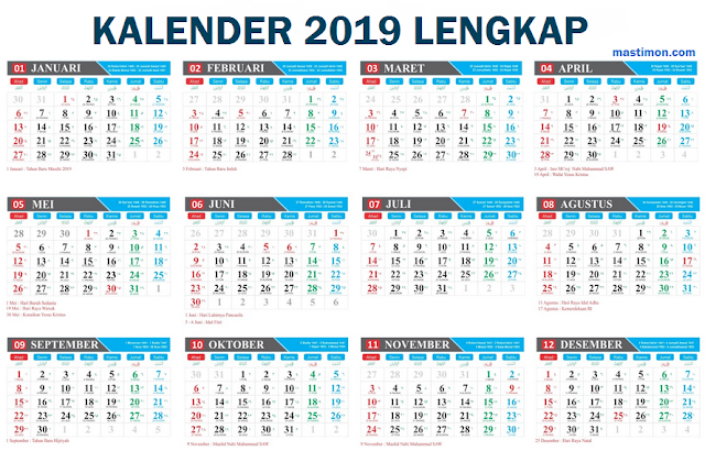 Download Kalender Meja 2019 Cdr