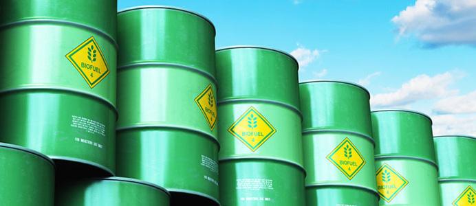 Bidones con biocarburantes