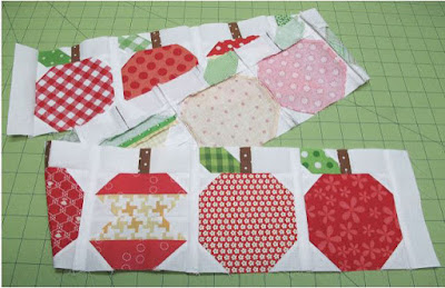 apple quilt blocks by a bee in my bonnet