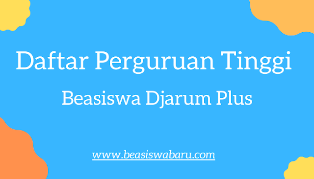 beasiswa djarum plus