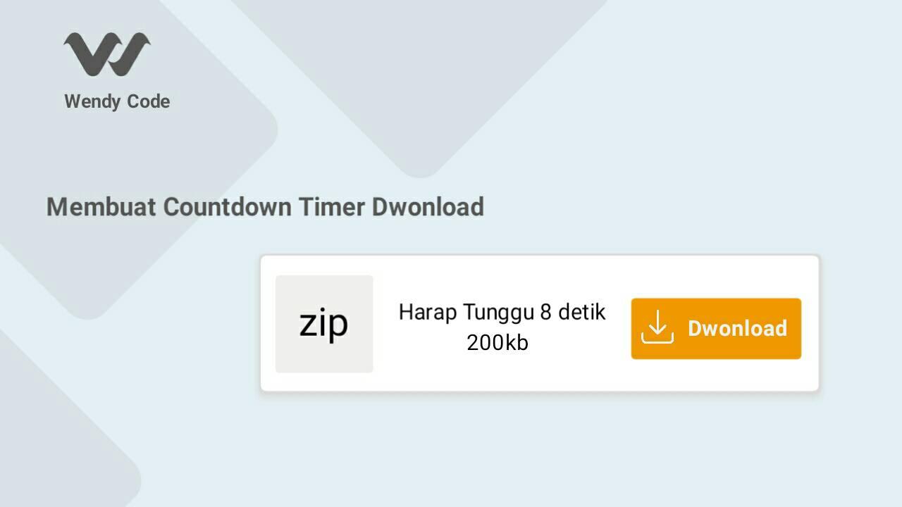 cara membuat countdown timer download di blogger