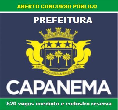 No Pará, Prefeitura de Capanema - PA abre Concurso Público