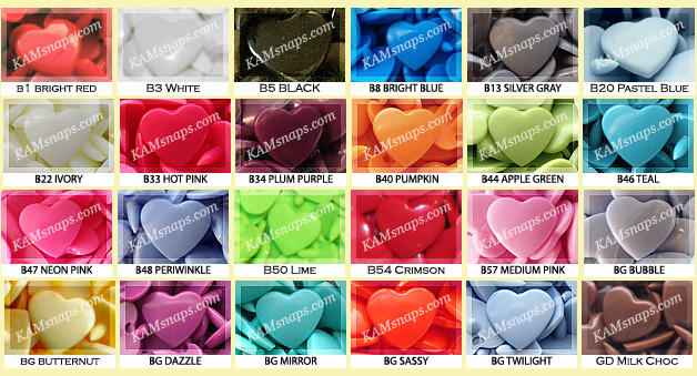 The Latest News from KAMsnaps com: New Heart-Shaped KAM Plastic Snaps