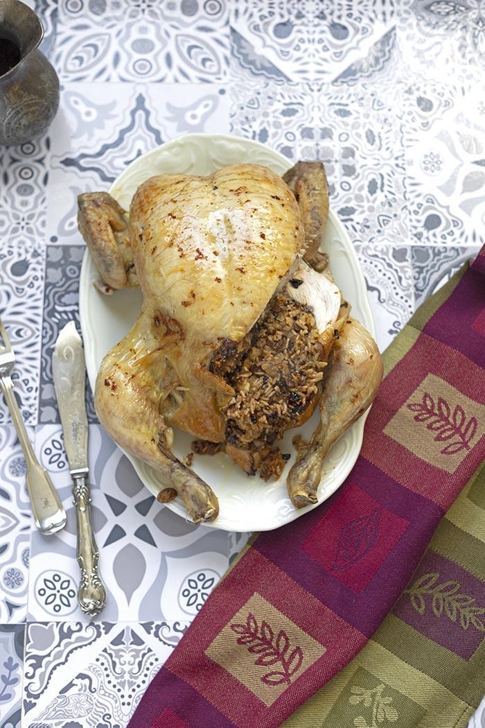 Kurczak pieczony faszerowany ryżem