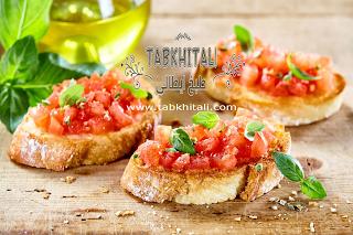 اكلة خفيفة وسريعة التحضير طماطم وريحان وخبز