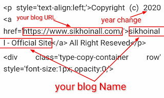 Blogger Free Custom Template से Copyright footer Credit Link हटाए? केवल 5 मिनट