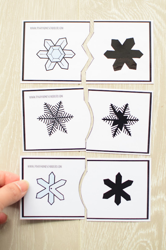 Winter Theme Learning Pack: Snow Silhouette Puzzles
