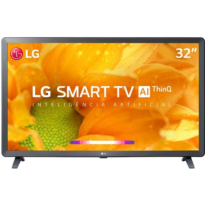 "Smart TV Led 32"" LG HD Thinq AI Conversor Digital Integrado 3 HDMI 2 USB Wi-Fi - Preta"