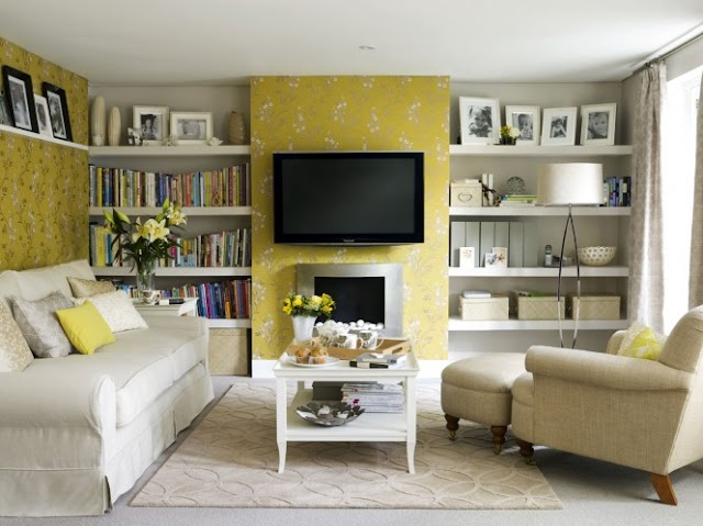 Yellow Living Room Interior Decoration Ideas
