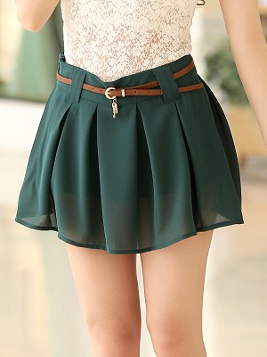 Off Shoulder Neck Silk Mini Skirt