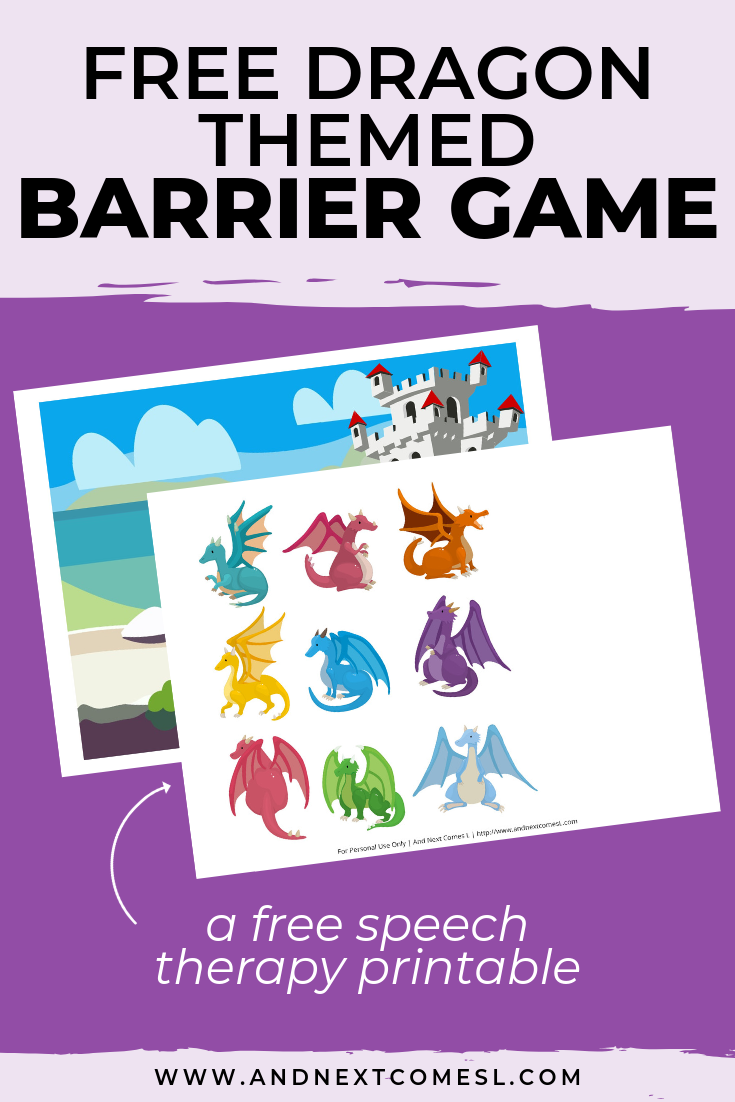 Free speech therapy barrier game: dragon themed