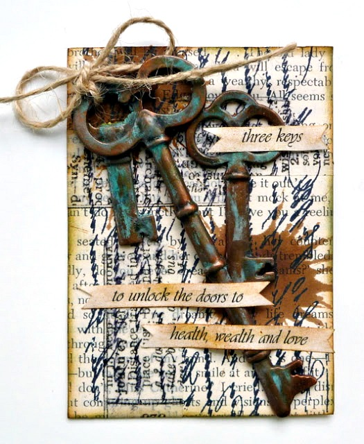 Sophisticated Finishes Patina Key Artist Trading Card Tutorial and Product Review by Dana Tatar