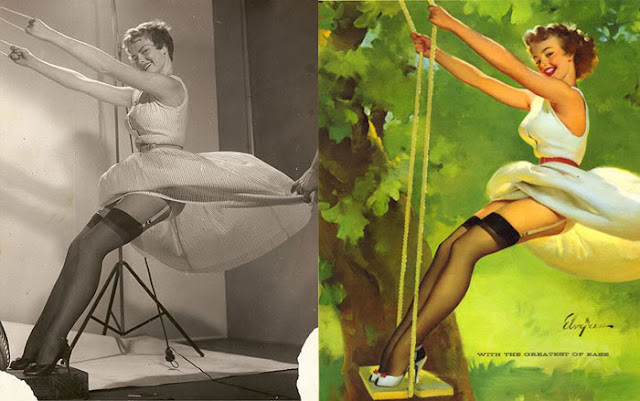 Classic Pin-Up Girls Before and After Editing: The Real