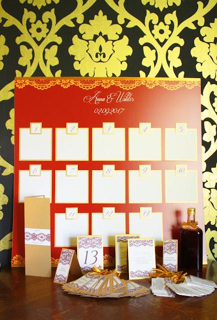 Bordowo- złote dodatki ślubne z serii Marsala