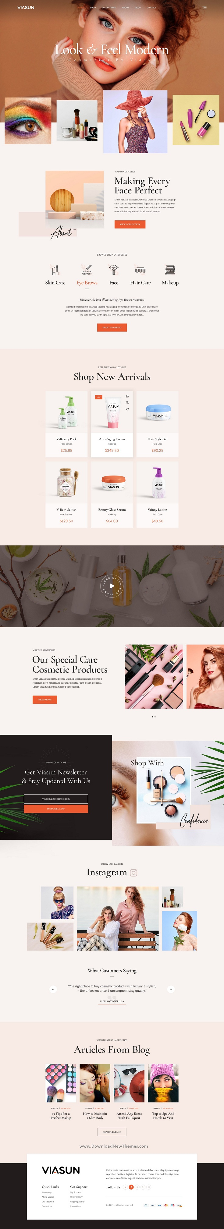 Creative Cosmetic Store PSD Template
