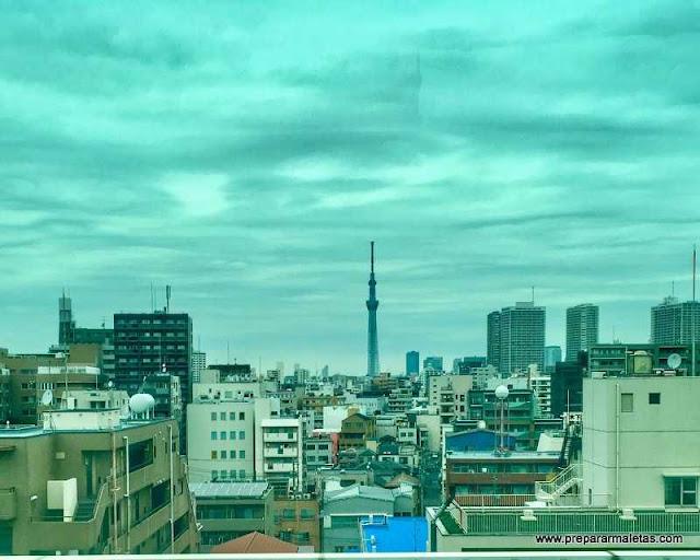 vistas durante el trayecto en bus a Tokio