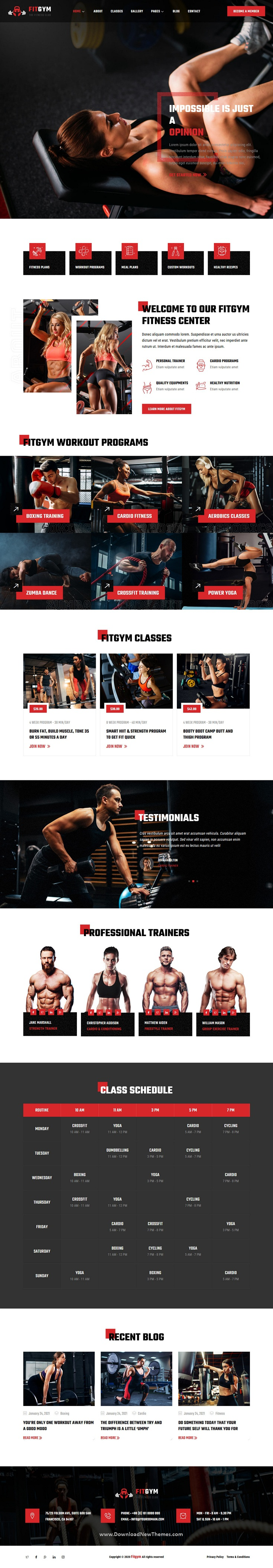 Fitness and Gym Elementor Template Kit