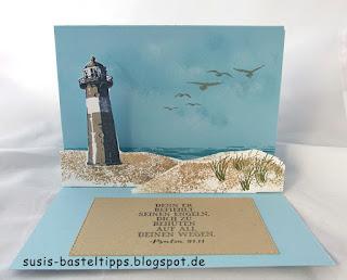 durch die gezeiten stampin up karte trost demonstratorin in coburg artikel bestellen katalog meer maritim leuchtturm sand see strand möven himmel
