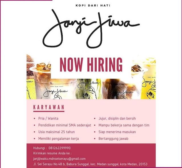 Lowongan Kerja SMA SMK Karyawan Janji Jiwa Coffe Shop 2021