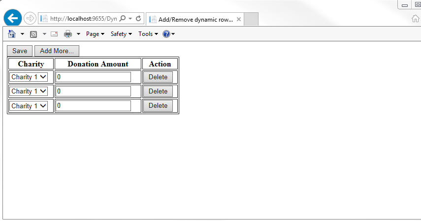 Quick Reviews: Dynamically Add/Remove Rows In HTML Table