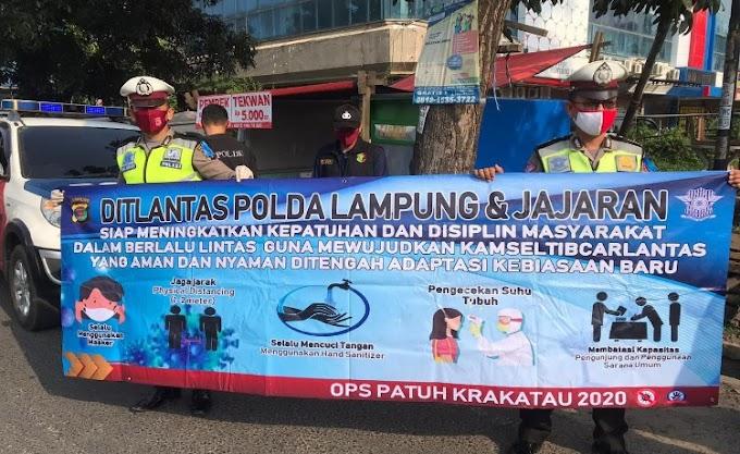 Giat Ops Patuh Krakatau 2020 Polda Lampung, Ini Hasilnya