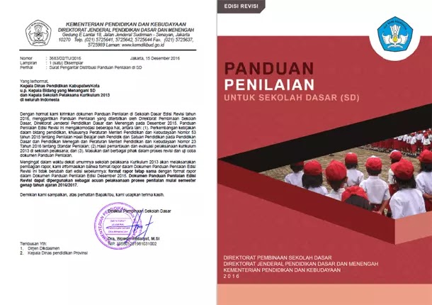 Panduan Penilaian SD Kurikulum 2013 Edisi Revisi 2016
