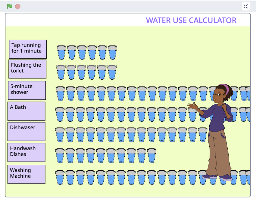 GAME WATER USE CALCULATOR