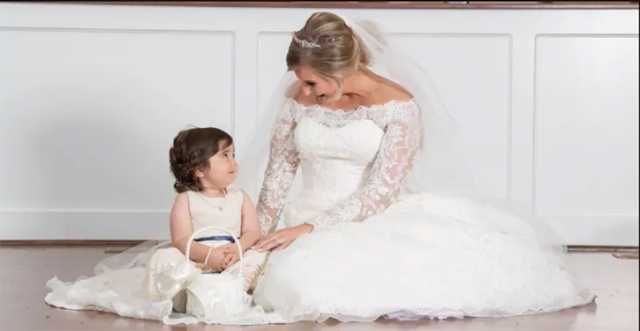 This Little Cancer Survivor Is The Bridesmaid At The Wedding Of Her Bone Marrow Donor