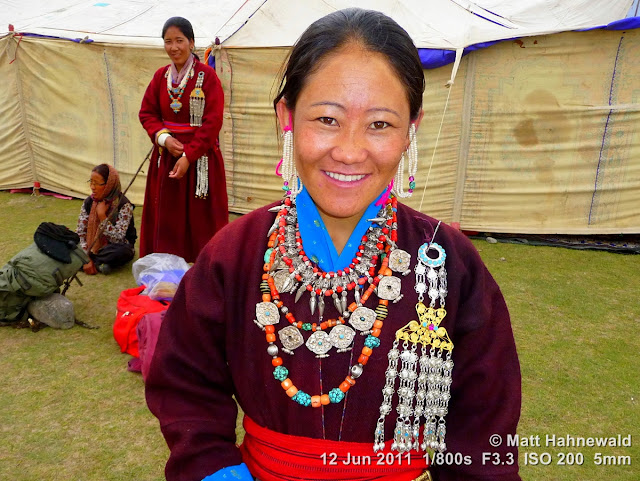 people, portrait, street portrait, Northern India, Ladakh, Ladakhi woman, traditional costume, goncha, Facing the World, © Matt Hahnewald