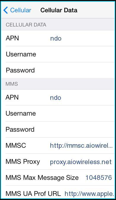 Cricket apn settings for iPhone updated