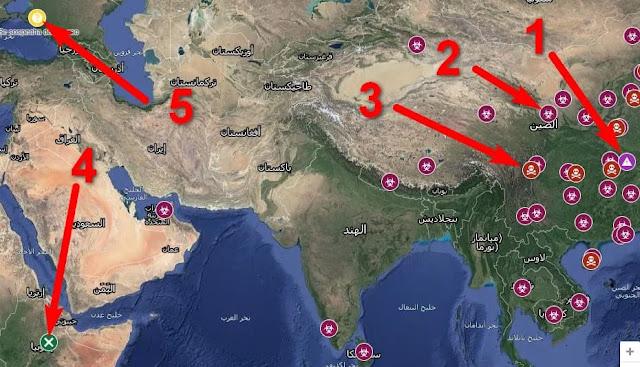 خرائط جوجل ضيف خريطة بمواقع الاصابات وحالات الوفاء في تطبيقها google map