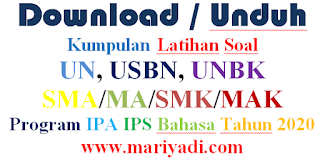 Download Soal Latihan USBN Geografi SMA Program IPS Tahun 2020