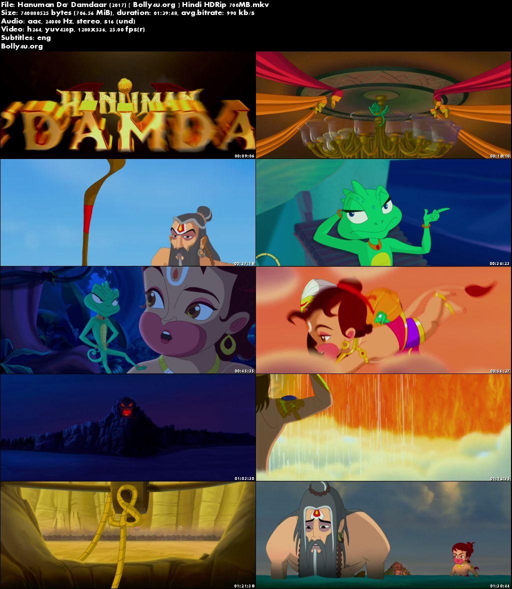 Hanuman Da Damdaar 2017 HDRip 700MB Full Hindi Movie Download