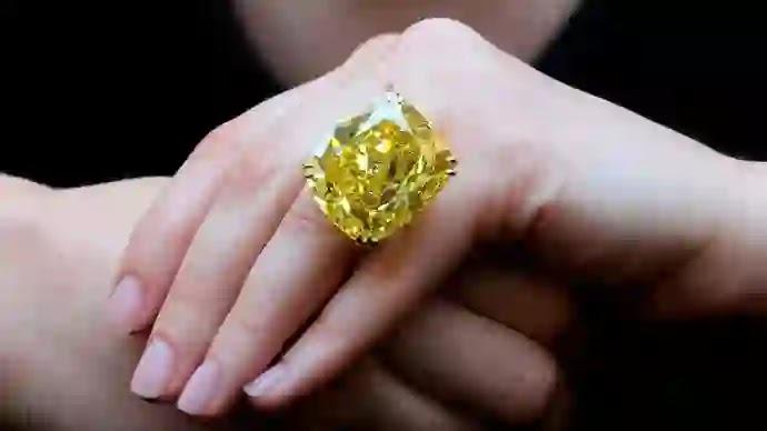 Graff Vivid Yellow Diamond ( جراف فيف الاصفر )