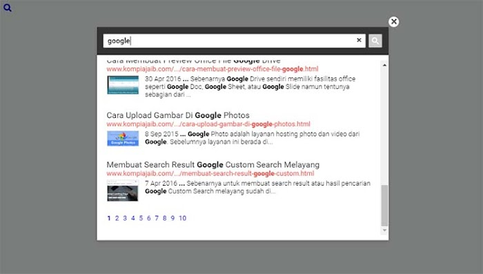 Google Custom search Box blogger