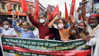cpi-ml-protest-in-patna-for-farmers