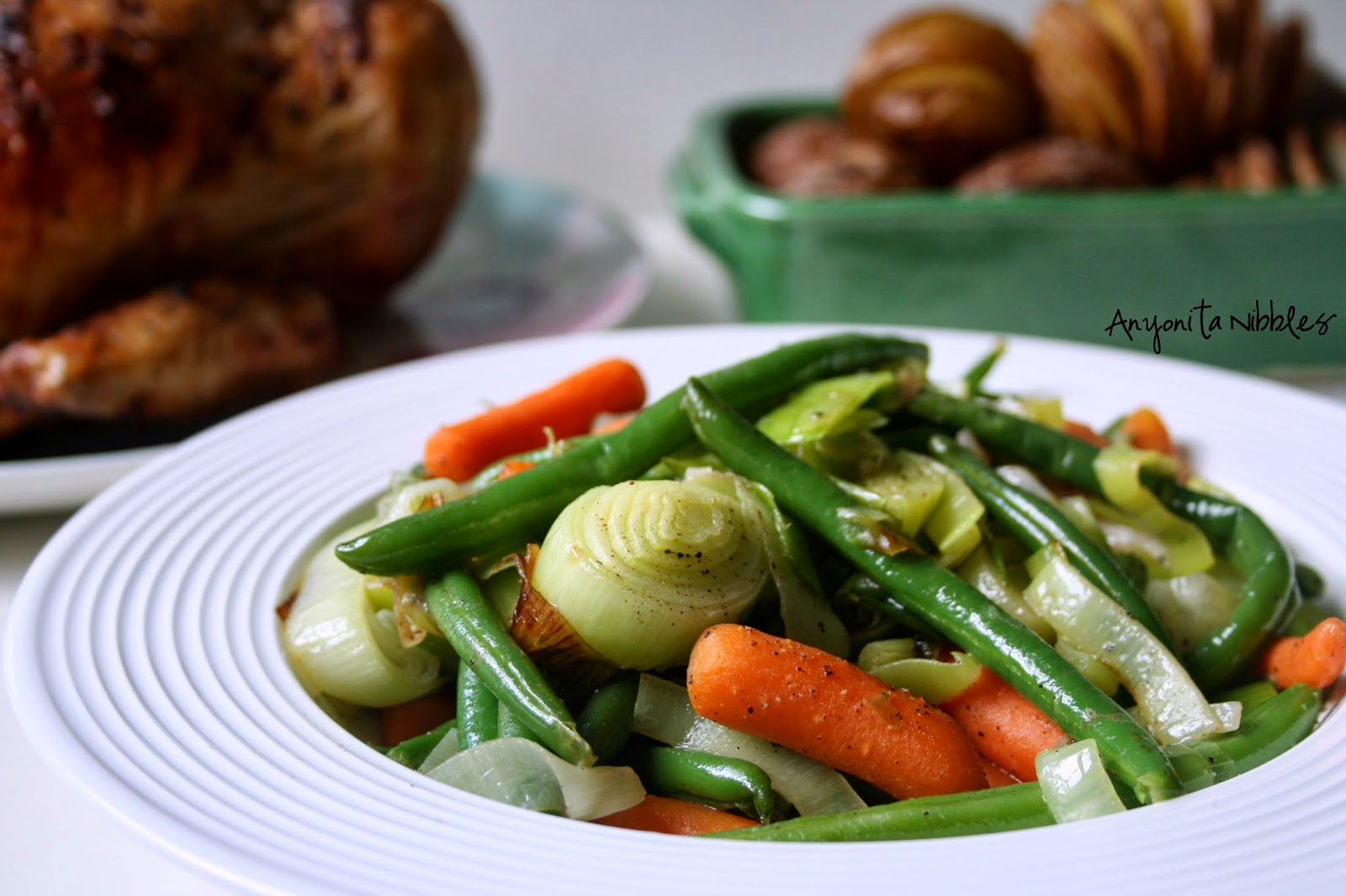 Sauteed spring vegetables side dish for Mother's Day | Anyonita Nibbles