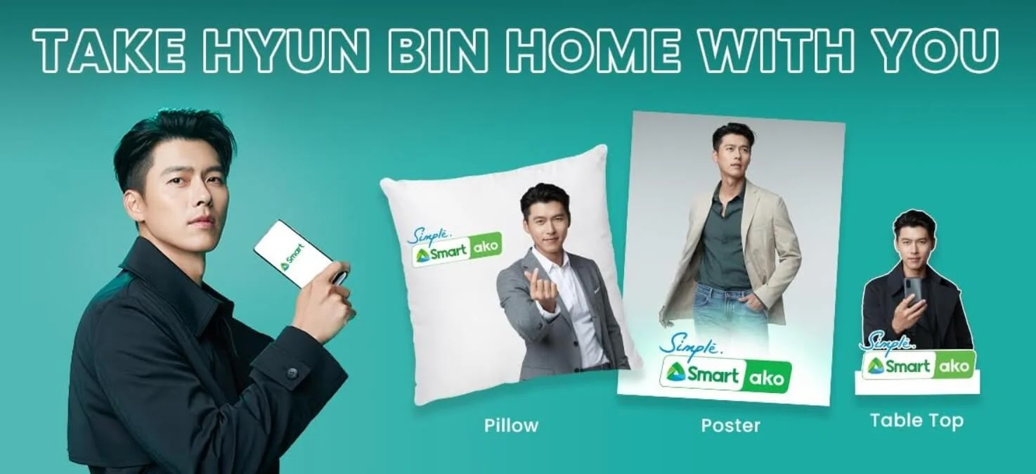 Bring Hyun Bin anywhere you go with Smart's fan merch promo