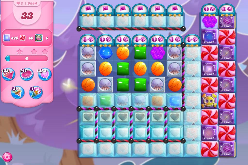 Candy Crush Saga level 9844