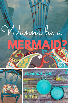 DIY Chalk Paint in color Mermaid Tail makes me want to take a dip! It's hard to feel hot and sweaty when you are looking at this cool cucumber!