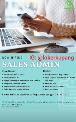 Lowongan Kerja Horeka TDM Kupang Sebagai Sales Admin