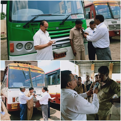 After Unnao Accident RTO Checks Bus Drivers News In Hindi Uttar Pradesh