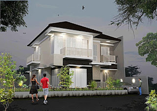 Lampung interior house - 2 storey minimalist home design